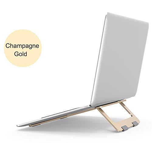 Wyi Soporte ajustable de aluminio para portátil, soporte plegable y ajustable para computadora portátil, soporte ergonómico para computadora portátil, portátil, tableta 9.2*8.4inch dorado