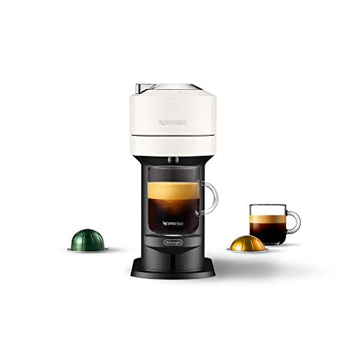 Nespresso Vertuo Next Coffee and Espresso Machine by De'Longhi, White, Compact, One Touch to Brew, Single-Serve Coffee Maker and Espresso Machine (Renewed)