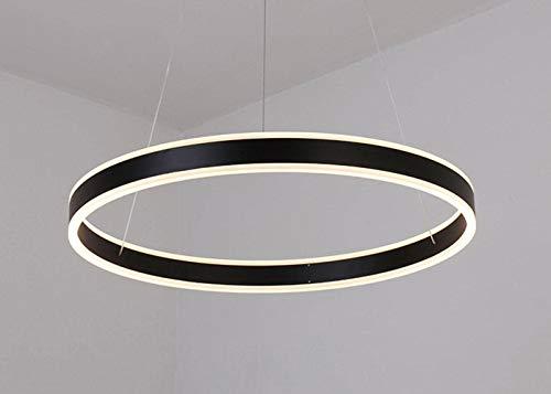 MCLJR LED Kronleuchter, Acrylaluminiumlegierung Lampshade, stufenlose Dimmen, moderner und einfacher 3 Ring 2 Ring 1 Ring Circular Chandelier für Esszimmer, Schlafzimmer, Arbeitszimmer