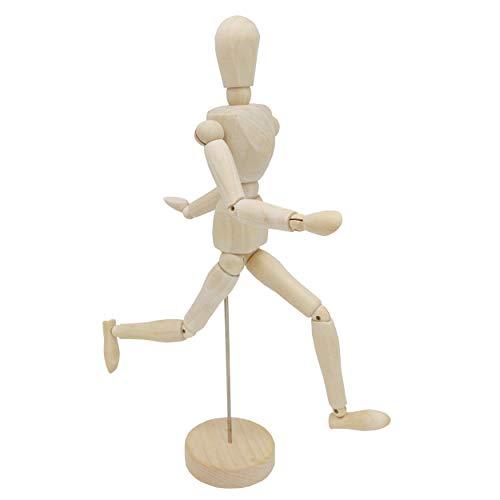 INHEMI Manichino per Disegno Uomo,Manichino Snodabile in Legno, 32cm