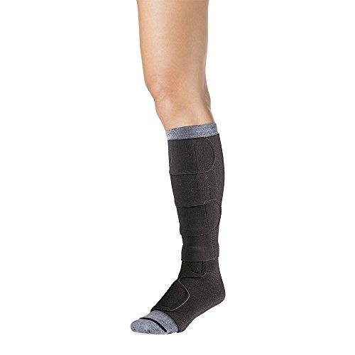 30-40 Mmhg Compreflex Below Knee W/Boot; Low Stretch; Lg Reg;Black SIGVARIS