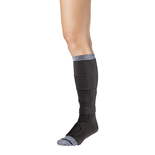 30-40 Mmhg Compreflex Below Knee W/Boot; Low Stretch; Lg Reg;Black SIGVARIS