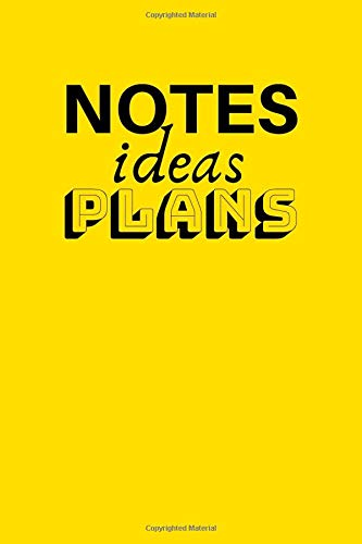 Notes Ideas Plans: Bullet Journal - Notebook (6x9 inch | dotted grid paper | Soft Cover | 100 Pages)
