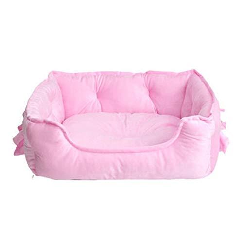 Sheep Shop - Cama para Perro con diseño de Lazo, para Invierno, Suave, para Gatos, Cama de Peluche, Pomerania, para Perros y Gatos S/L