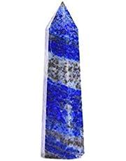 W.Z.H.H.H Cristal áspero Natural Lapis Lazuli Piedra áspera Punto de Cristal Piedra Paisajismo Energía Piedra Decoración del hogar Cristales de curación (Color : Azul, Size : 50 60mm)