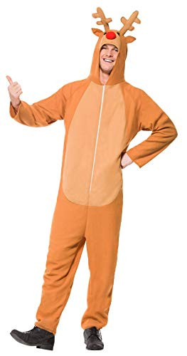 Smiffys Costume de renne, Brun, avec combinaison