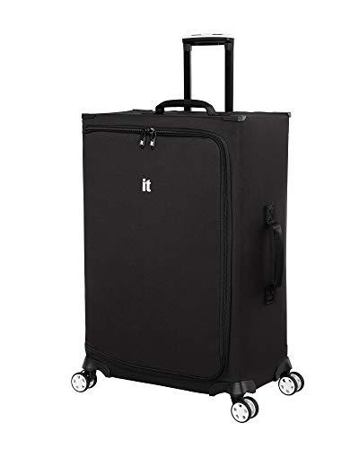 it luggage MaXpace Softside Spinner Wheel, Black, Checked-Medium 27-Inch
