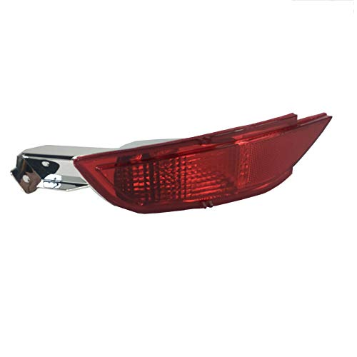 HLY_Autoparts Lentes de la lámpara de la luz antiniebla Reflector del Parachoques Trasero Izquierdo de los Coches LHD para Ford Fiesta Mk7 2008 2009 2010 2011 2012 LHD