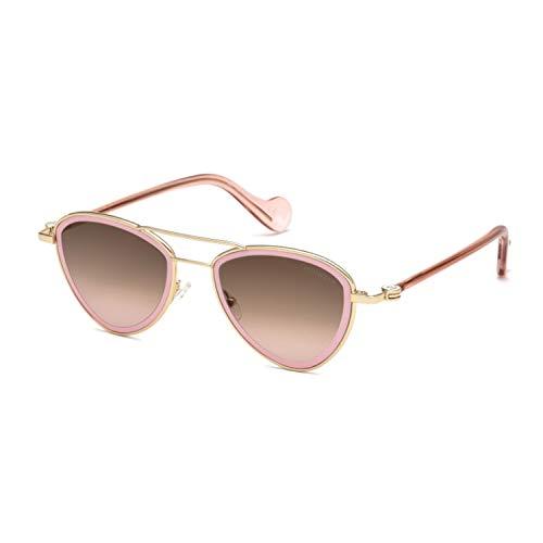 Moncler Unisex-Erwachsene ML0058 28S 53 Sonnenbrille, Gold (Oro Rosa Lucido/Bordeaux)