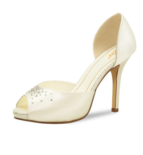 Elsa Coloured Shoes Brautschuh Pina Colada Satin, Gr. 36 - Ivory
