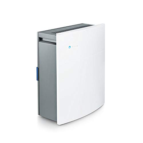 Blueair Classic 203 Slim HEPA Silent Air Purification System, Captures Allergens, Odors, Smoke, Mold, Dust, Germs, Pets, Smokers, Small Rooms 237 Sq. Ft, White, Manual-240