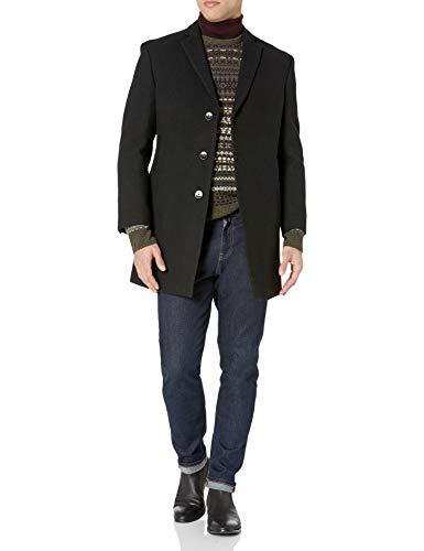 Calvin Klein Men's Marble Overcoat, Deep black, 42