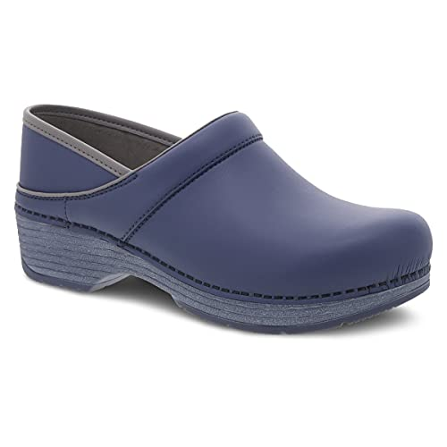 Dansko Women's LT Pro Indigo Smooth Clogs 9.5-10 M US - Anti-Microbial Leather