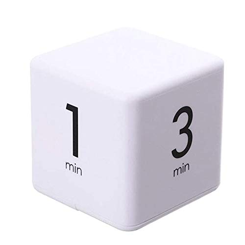 Gcroet Cube Timer Kids Workout Timer Digital Timer Wecker Pomodoro Timer Minuten Cube Timer Zeit 1 10 Minuten (weiß)