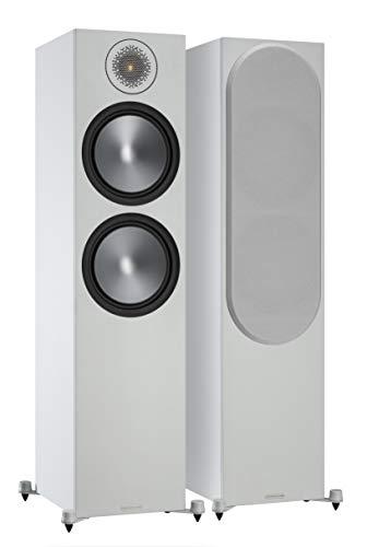 Monitor Audio Bronze 500 6G   Farbe: Weiß   Standlautsprecher   Paar   Stereo und Heimkino   2,5-Wege   8 Ohm   200 Watt   Magnetische Abdeckung   Bassreflex   Passiv