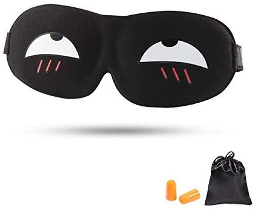 Schlafen Blackout Brille, männliche und weibliche Cute Funny Schlafender Kursteilnehmer Kinder 3D-Stereo-Augen-Schablone/Einstellbar,E
