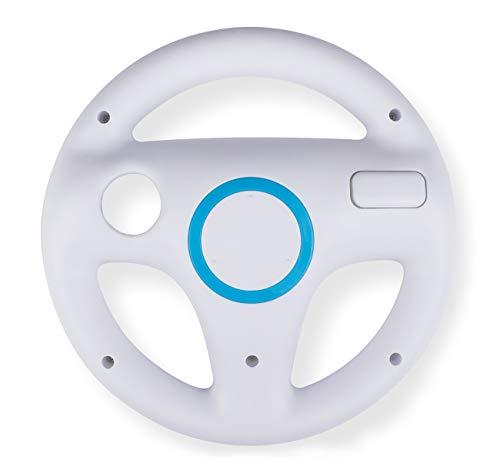 Volanti da gioco compatibili con Mario Kart Wii 1PC,Beinhome Mario Kart Racing Wheel,telecomando per Nintendo Wii Giochi e Wii U Racing Spiele(bianco)