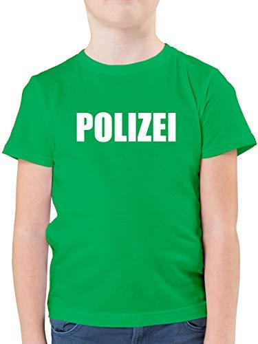 Karneval & Fasching Kinder - Polizei Karneval Kostüm - 128 (7/8 Jahre) - Grün - kostüme 12 Jahre Jungs - F130K - Kinder Tshirts und T-Shirt für Jungen