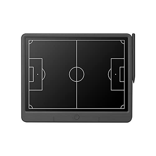 JasCherry Pizarra Táctica de Fútbol Electrónico, Tablero de Entrenamiento de Fútbol con Pantalla LCD Flexible, Tablero de Estrategia de Fútbol Portátil con Lápiz óptico, 15 Pulgadas