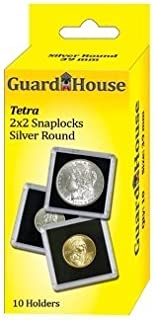 Guardhouse Tetra Snap Lock 2x2 Silver Round Coin Holder 10 Pack