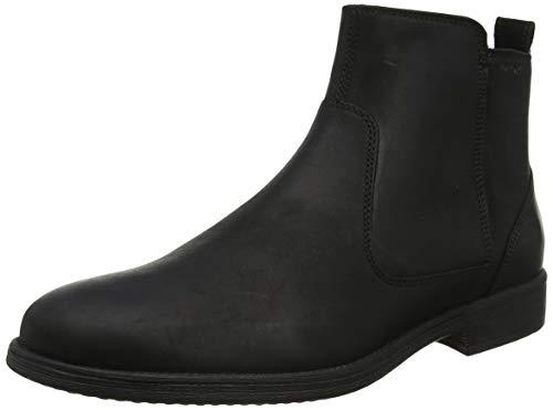 Geox Herren U JAYLON F Klassische Stiefel, Schwarz (Black C9999), 46 EU