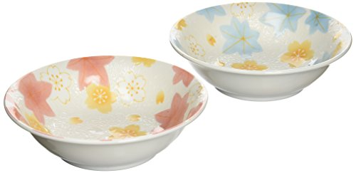 [Lot de 2] Ishida de Hiromi Porcelaine Bol à céréales/japonais Nishiki Cloud Pattern Bleu et Rouge Hr-705