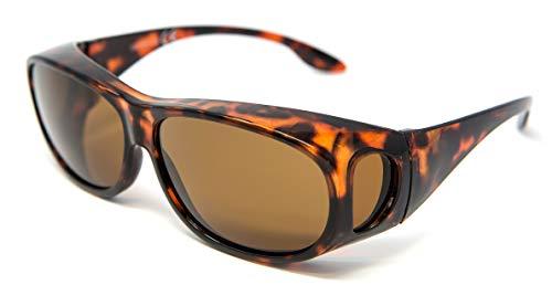 Gafas Opticaid para colocar sobre gafas de sol polarizadas anti deslumbramiento UV400 Wrap Around para hombre y mujer con lente marrón tortuga categoría 3 Remaldi 🔥