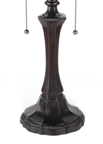 "Chloe Lighting CH33318VI16-TL2 Ambrose Tiffany-Style Victorian 2-Light Table Lamp, 21.9 x 16.54 x 16.54"", Multicolor"