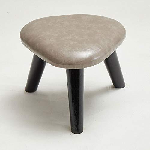 HHGO Houten sofa tafel kruk lage kruk huis driehoekige kruk voor keuken, badkamer, slaapkamer, kinderen of volwassenen