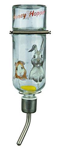 Trixie Honey en Hopper glazen waterfles, mittel, kleurloos