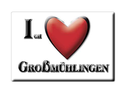 Enjoymagnets GROßMÜHLINGEN (ST) Souvenir Deutschland Sachsen Anhalt Fridge Magnet KÜHLSCHRANK Magnet ICH Liebe I Love