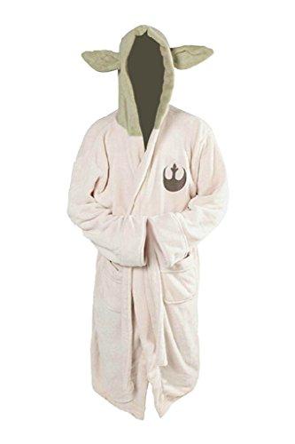 Yoda Jedi Orecchie in Pile Accappatoio Con Cappuccio Accappatoio Cosplay Costume Accappatoio Taglia Adulto