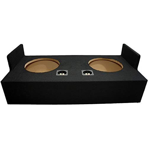 Compatible with Ford Ranger Extended Super Cab Truck 1993-2012 Dual 12' Subwoofer Sub Box Speaker Enclosure