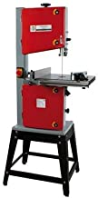 Holzmann Sierra de cinta para madera | 300J | Sierra de cinta de 230 V con soporte | Para profesionales y aficionados