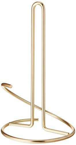 Spectrum Diversified Euro Supreme Holder Countertop Steel Stand Fits Standard amp Jumbo Rolls Modern Kitchen Decor Paper Towel Dispenser Gold
