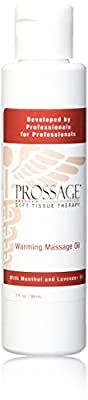 Prossage Heat Warming Relief Massage Oil for Therapuetic Massages, Deep Tissue Massages, and Aromatherapy, Topical Pain Reliever for Soft Tissue Mobilization, Muscle Pain Relief