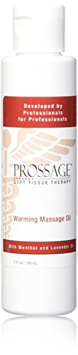 Prossage - 12790 Heat Warming Relief Massage Oil for Therapuetic Massages, Deep Tissue Massages, and Aromatherapy, Topical Pain Reliever for Soft Tissue Mobilization, Muscle Pain Relief, 3 Ounce Bottle
