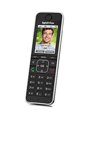 AVM FRITZ!Fon C6 Black DECT-Komforttelefon (hochwertiges Farbdisplay, HD-Telefonie, Internet-/Komfortdienste, Steuerung Fritz!Box-Funktionen) schwarz, deutschsprachige Version