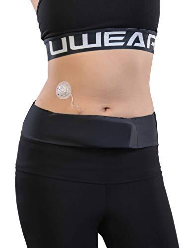 Dia-Bellyband, Taillenband für Insulinpumpe. Optimal für Sport, Reisen und Schlaf. Bequeme Öffnungen für Schläuche. Passend für alle Insulinpumpen. (XXL (112-124 cm))