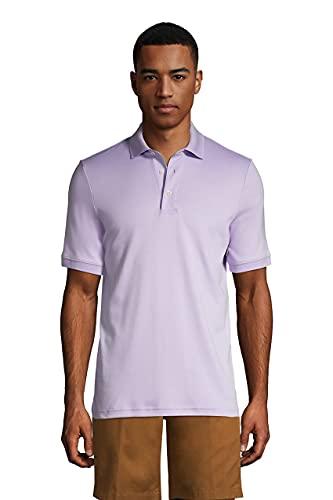 Lands' End Mens Short Sleeve Supima Polo Sweet Lavender Purple Regular Medium