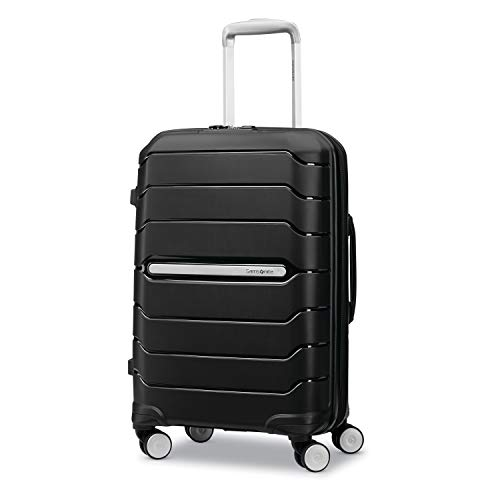 Samsonite Freeform Hardside Expandable with Double Spinner Wheels, Black, Carry-On 21-Inch
