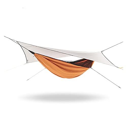 LANGTAOMY Lonas de Suelo Hamaca de Campamento portátil y tolera tolera Lluvia Lluvia Volar Lona Impermeable mosquitero Hamaca Canopy Nylon Hamaca