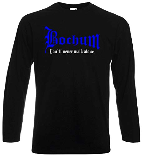 world-of-shirt / Bochum Herren Longsleeve You`ll Never Walk Alone Schwarz S