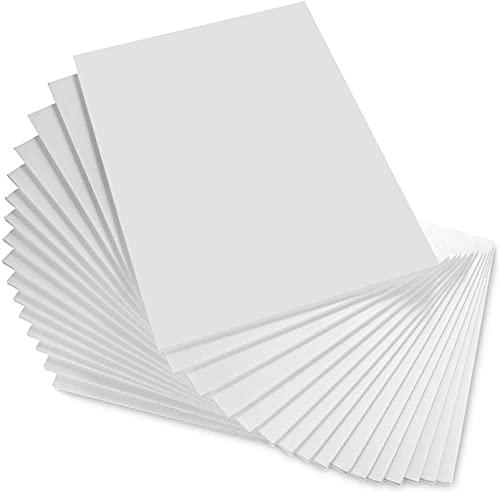 STARVAST Lot de 16 Carton Mousse A3, Carton Plume Mousse Blanc, Plaque Polystyrene 5mm pour Art, Photos Panneaux de Mariage, Panneau D'affichage (297 × 420 mm)