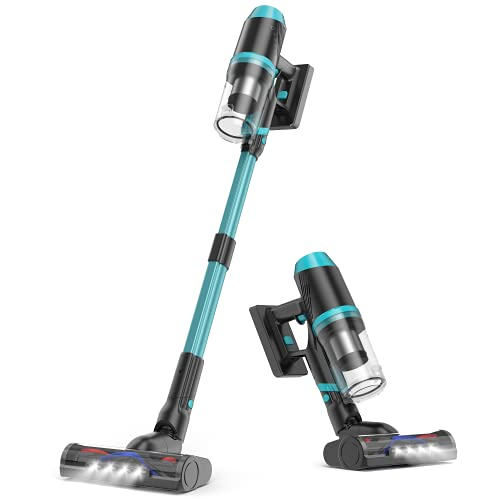 ORFELD 696 Cordless Vacuum Cleaner, 24 000 Pa Stick Vacuum 4 in 1, Up to 60 Minutes Runtime for Whole House, Extended Tube and 2 in 1 Nozzle Suitable for Ceiling, Hard Floor, Soft Blanket, Car