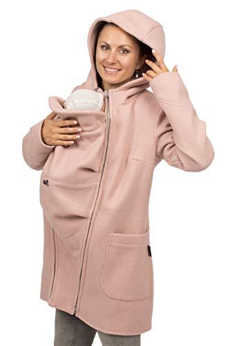 Viva la Mama - Umstandsjacke Winter Jacke mit Babytrageeinsatz warm Kängurujacke Babytragen - Valentin - rosa - XS