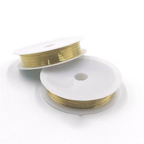 Pangyoo PYouo-Alambre de Cobre 0.2-1 mm Cable de Cobre para el cordón de la joyería Beading DIY Joyería Haciendo Accesorios de Cadena de Cordones de artesanía Accesorios para Herramientas
