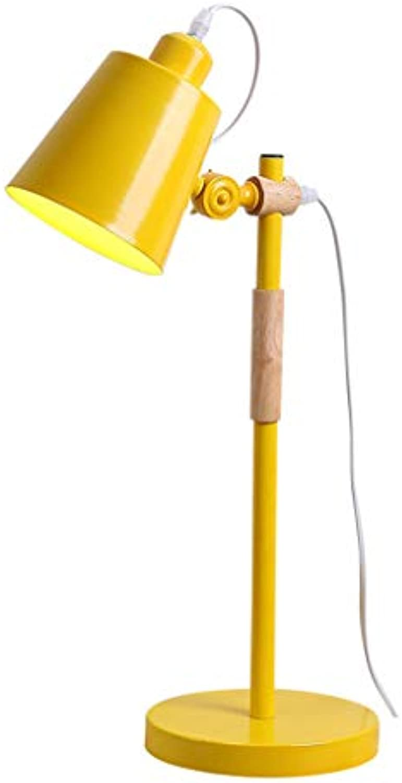 Tischlampe Xiuyun Eisen Schlafzimmer Schlafsaal (Farbe   Gelb, gre   55  18cm)