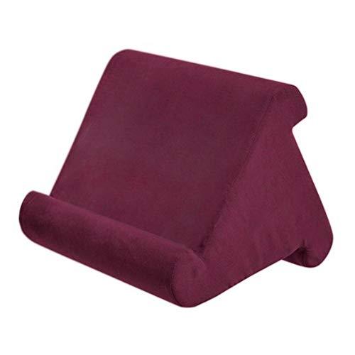 Amkeou Kissen Multi-Angle Soft Pillow Lap Stand, Multifunktions-Cooling-Laptop-Halter Tablet-Kissen für iPads, Tablets, E-Reader, Smartphones, Bücher, Zeitschriften (B)