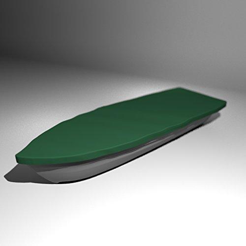 Premium Boot Persenning Bootsplane - Anka, Ruderboot, Schlauchboot, Angelboot & Co Bootsplane extrem reißfest Pioner, Terhi, GFK, Bavaria, Fishman, Verus, (B 450cm x T 150cm, Tannengrün)